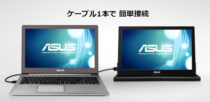 ASUSのモバイルモニターMB168B