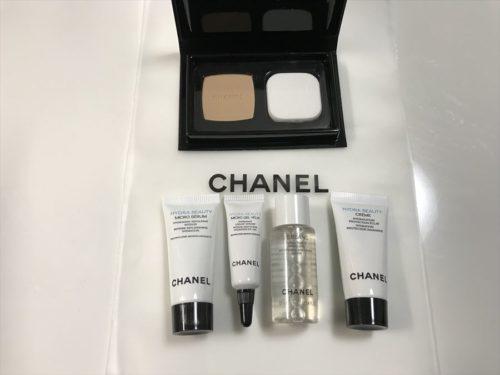 シャネルの化粧品サンプル