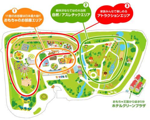 軽井沢おもちゃ王国のマップ
