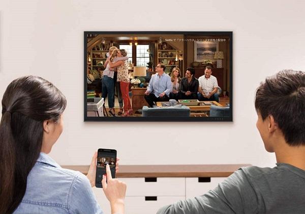 無線接続でTVに映像を出力する