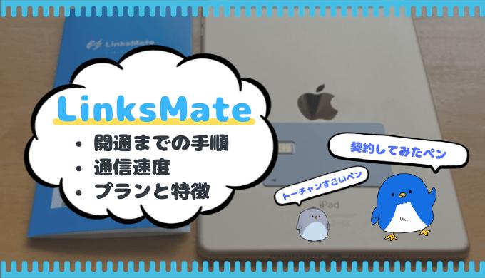 格安SIMのLinksMate(リンクスメイト)をiPad用に契約してみた!
