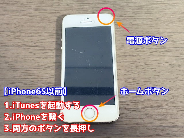 iPhone6S以前のリカバリー方法